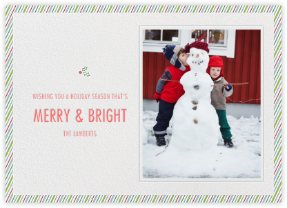 Holly Go Brightly Postcard - Paperless Post -