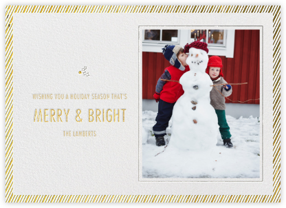 Holly Go Brightly Postcard - Metallics - Paperless Post -