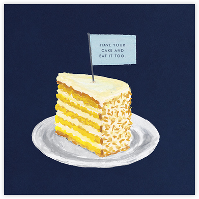 Slice of Cake - Paperless Post - Birthday Cards for Him