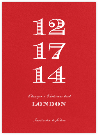 Red (Tall) - Paperless Post - Holiday Save the Dates