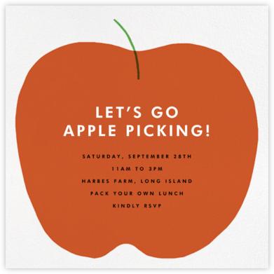 Apple in Season - The Indigo Bunting - Fruity invitations