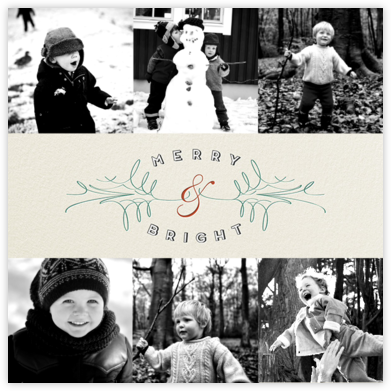 Merry Filigree - Six Photos - Paperless Post - Holiday Cards