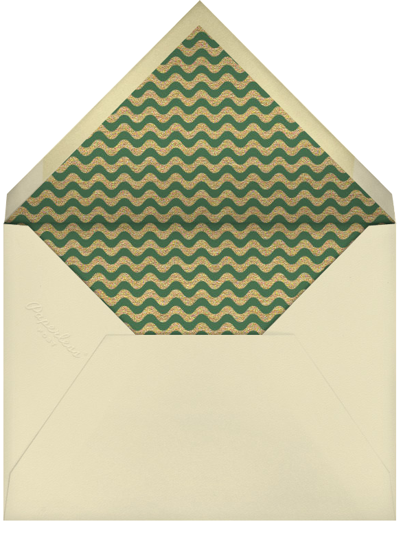 Gold Ornament - Paperless Post - Christmas - envelope back