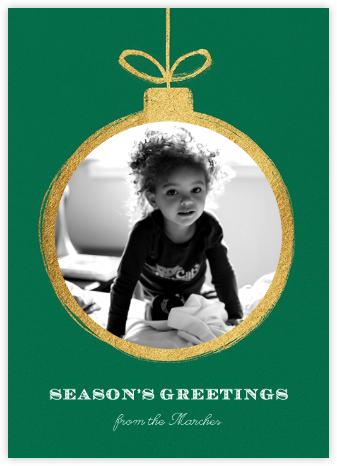 Gold Ornament - Paperless Post - Holiday cards