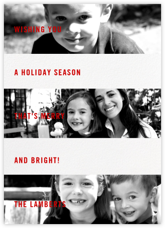 Three Photo Bands - Paperless Post - Affordable Christmas Cards