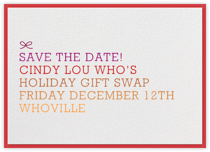 Ombre Save the Date - Red - The Indigo Bunting - Holiday save the dates