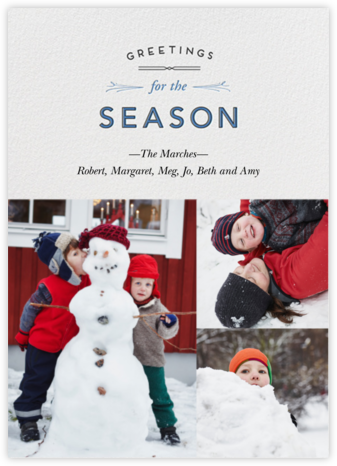 Wintry Tune - Season - Paperless Post - Holiday Cards