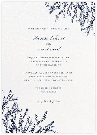 Forsythia (Invitation) - Navy - Paperless Post - Wedding Invitations