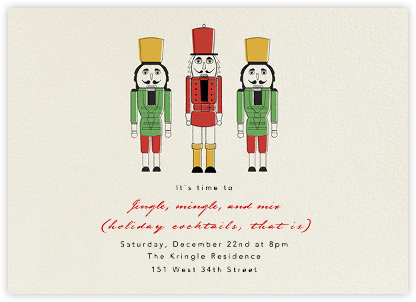 We Three Nutcrackers - Paperless Post - Online Party Invitations