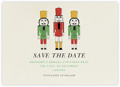 We Three Nutcrackers - Paperless Post - Holiday save the dates