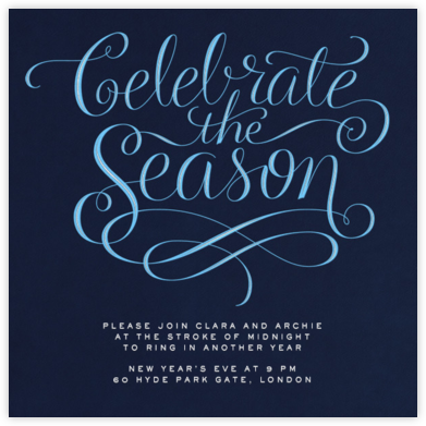 Celebrate The Season - Night - Paperless Post - Professional party invitations and cards