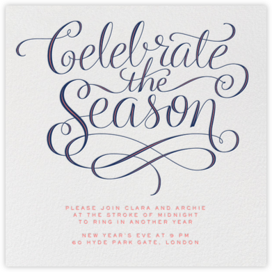 Celebrate The Season - Day - Paperless Post - Holiday invitations