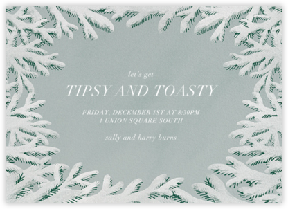 Spruce Clearing - Paperless Post - Winter Party Invitations