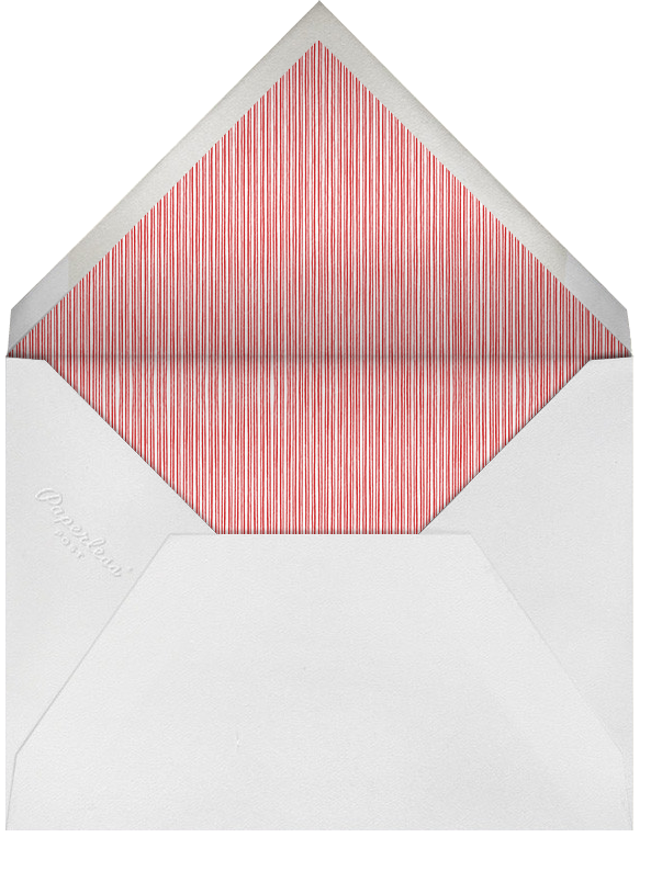 Poinsettia Foliage - Paperless Post - Christmas - envelope back
