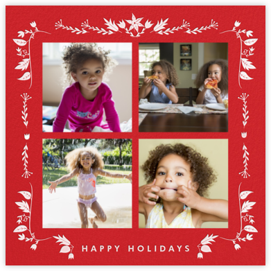 Poinsettia Foliage - Paperless Post - Christmas Cards