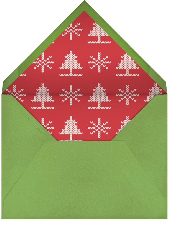 Cozy Get Together - Crate & Barrel - Christmas party - envelope back