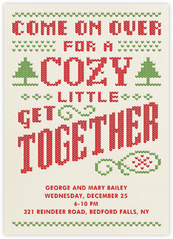 Cozy Get Together - Crate & Barrel - Winter Party Invitations
