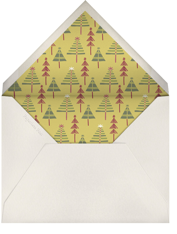 Holiday Town - Crate & Barrel - Christmas party - envelope back