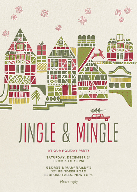 Holiday Town - Crate & Barrel - Invitations
