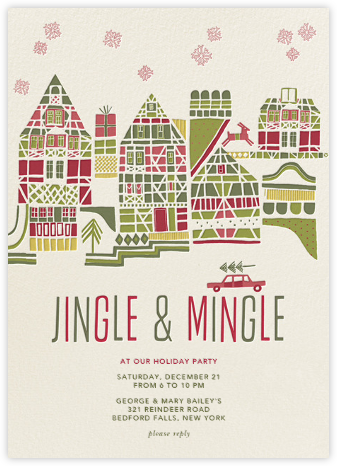 Holiday Town - Crate & Barrel - Holiday invitations