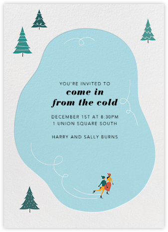Frosty Pond - Paperless Post - Winter Party Invitations