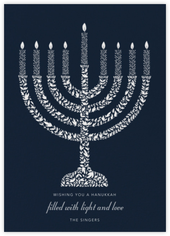 Vine Menorah - Paperless Post - Hanukkah Cards