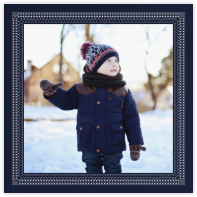 Rambouillet (Square) - Navy - Paperless Post -