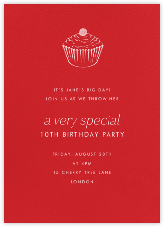 Red (Tall) - Paperless Post - Birthday invitations