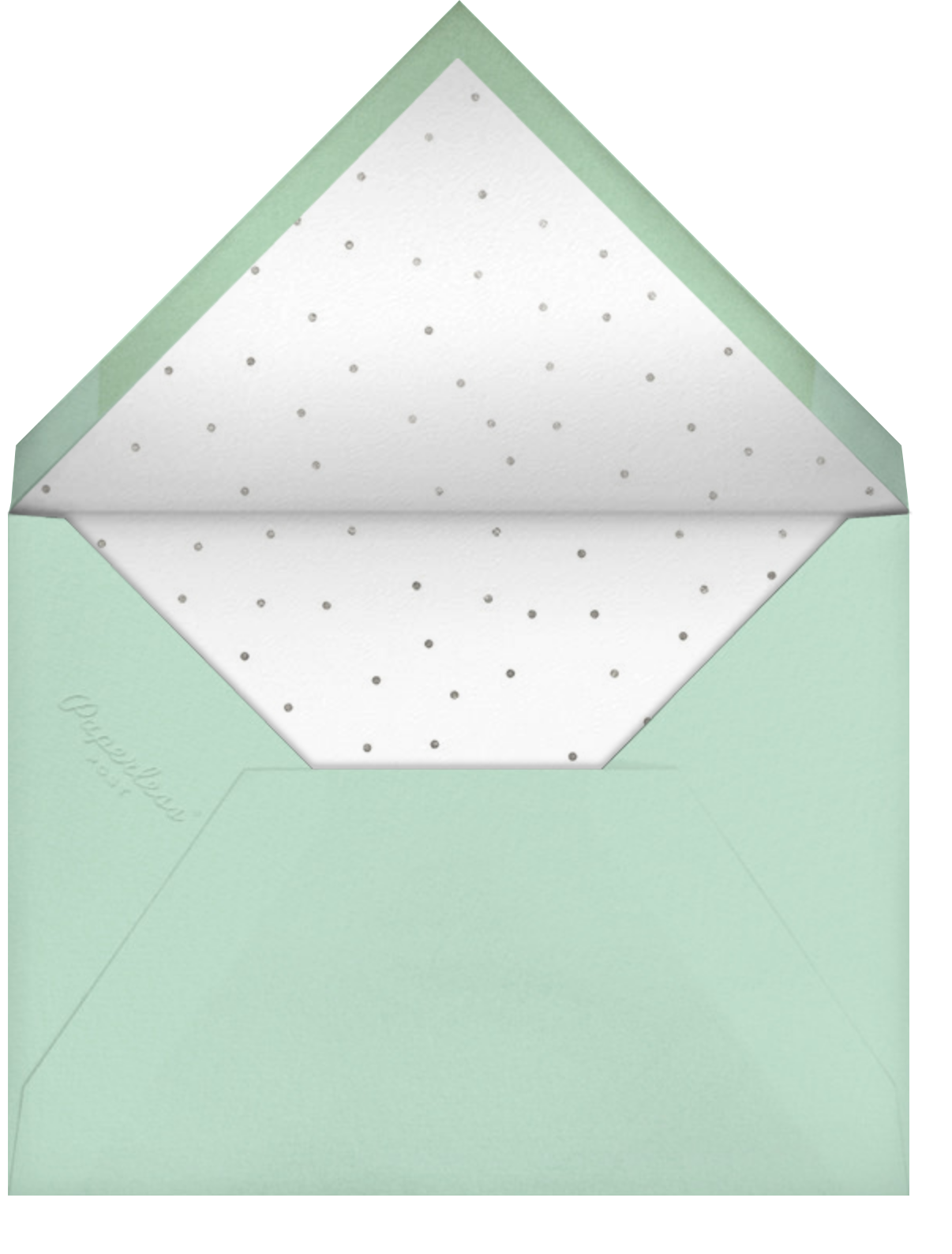Persian Green (Tall) - Paperless Post - Company holiday party - envelope back