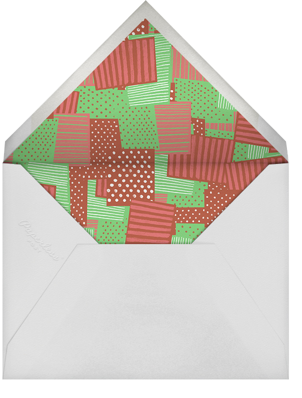 Assortment of Presents - Green And Red - Paperless Post - Christmas party - envelope back