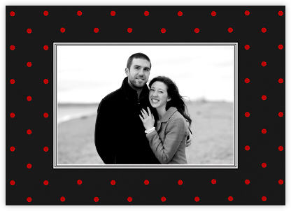 Bazille Dots (Horizontal) - Red - Paperless Post -