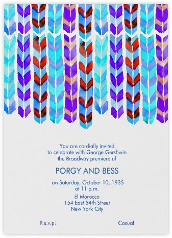 Watercolor Ribbons - Purple And Blue - Linda and Harriett