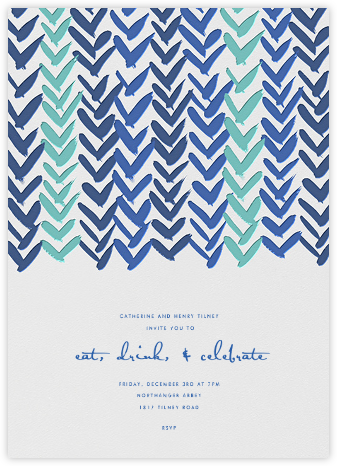 Ink Brush Arrows - Blue - Linda and Harriett - Baby shower invitations