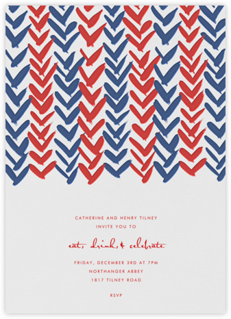 Ink Brush Arrows - Red And Blue - Linda and Harriett - 4th of July invitations