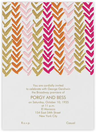 Ink Brush Arrows - Pink And Gold - Linda and Harriett - Baby Shower Invitations