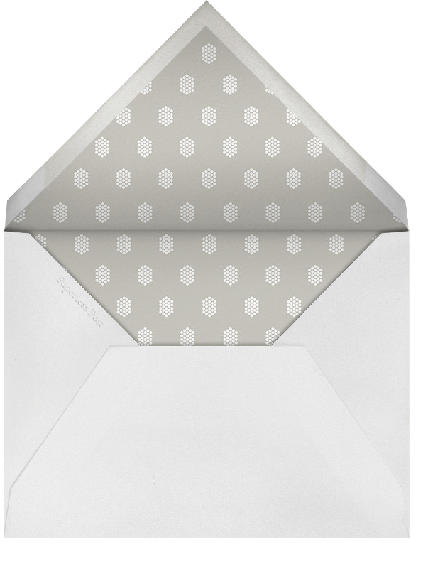 Honeycomber (Square) - Silver - Paperless Post - null - envelope back