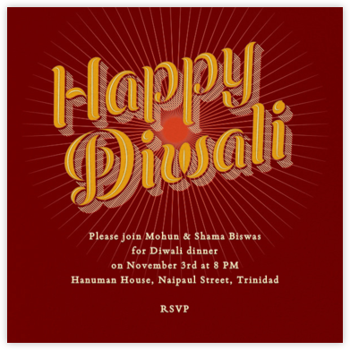 Happy Diwali - night - Paperless Post - Diwali invitations