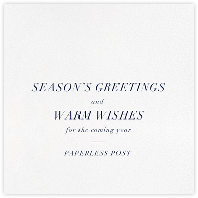Ivory Square - Logo - Paperless Post - Affordable Christmas Cards
