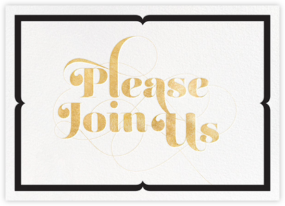 Please Join Us - Gold - bluepoolroad - Winter entertaining invitations