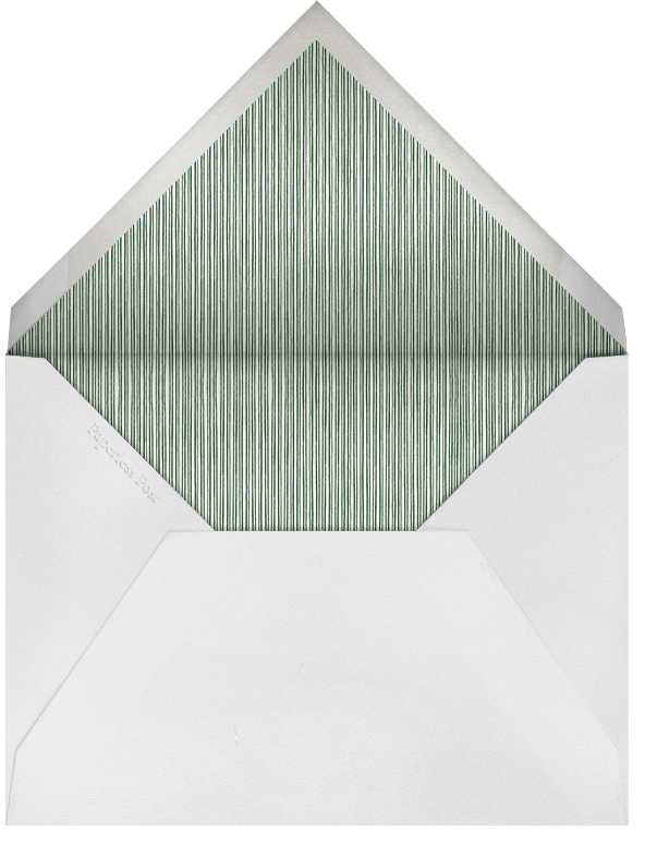 Spruce Clearing - Paperless Post - Holiday save the dates - envelope back