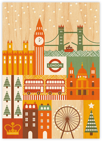 Snowy London - Petit Collage - Holiday cards