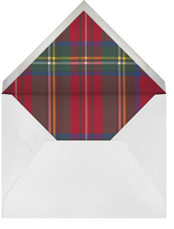 Tartan (Square) - Carnation - Oscar de la Renta - Winter entertaining - envelope back