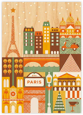 Snowy Paris - Petit Collage -
