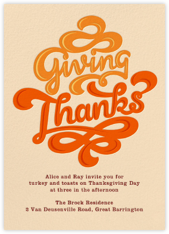 Giving Thanks Gravy - Paperless Post - Thanksgiving invitations
