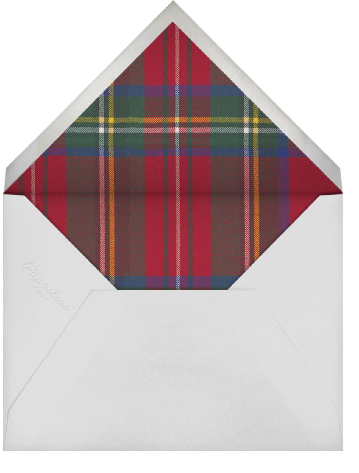 Tartan (Horizontal Photo) - Carnation - Oscar de la Renta - Holiday cards - envelope back