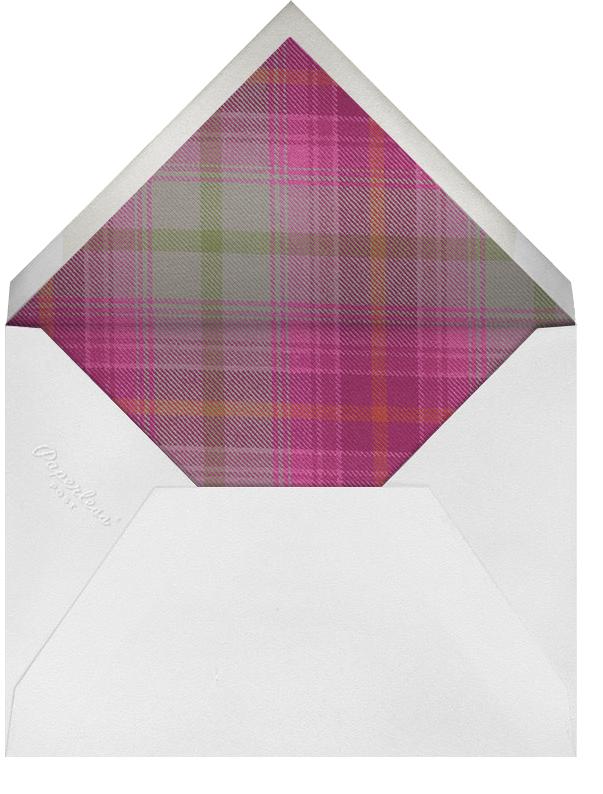 Tartan (Horizontal Photo) - Hot Pink - Oscar de la Renta - Envelope