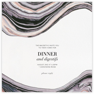 Marbleized - Kelly Wearstler - Dinner Party Invitations