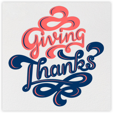 Giving Thanks Bubblegum - Paperless Post - Online Thank You Cards
