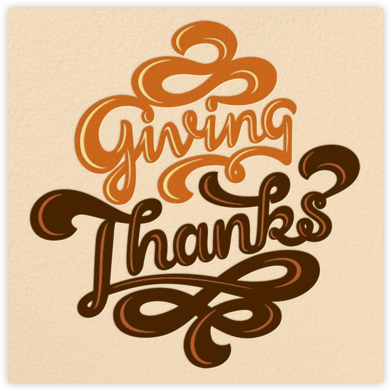 Giving Thanks Chocolate - Paperless Post - Online Thank You Cards