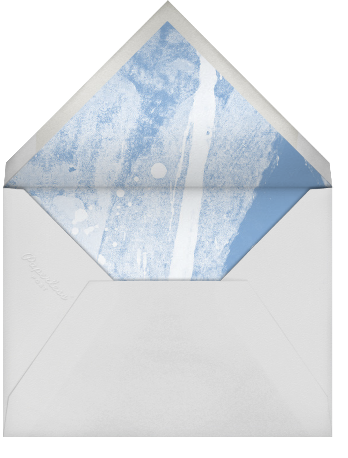 Chromatic - Blue - Kelly Wearstler - Party save the dates - envelope back
